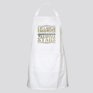 A Face Without Freckles (Typography) Apron