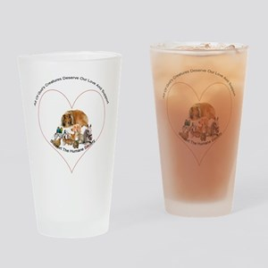Humane Society Support Drinking Glass