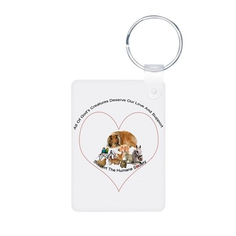 Humane Society Support Aluminum Photo Keychain