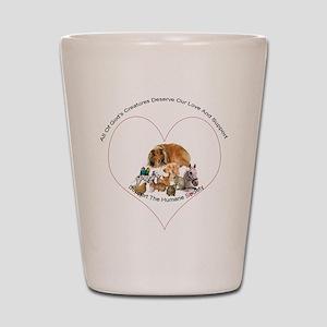 Humane Society Support Shot Glass