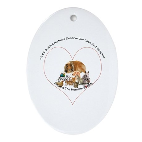 Humane Society Support Ornament (Oval)