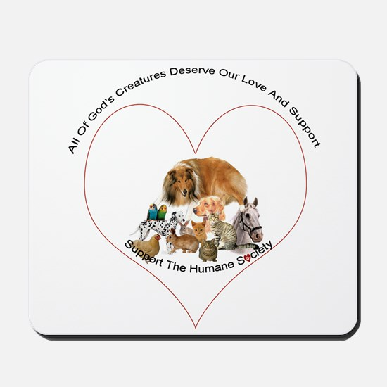 Humane Society Support Mousepad