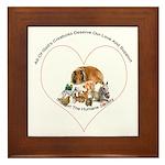 Humane Society Support Framed Tile