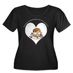 Humane Society Support Women's Plus Size Scoop Nec