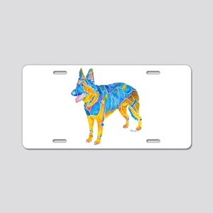 German Shepherd Dog Breed Aluminum License Plate