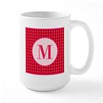 Fiery Formal Monogram Large Mug
