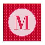 Fiery Formal Monogram Tile Coaster