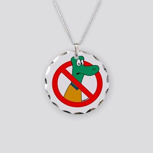 Anti-Gators Necklace Circle Charm