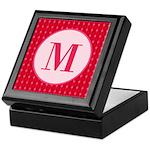 Fiery Formal Monogram Keepsake Box