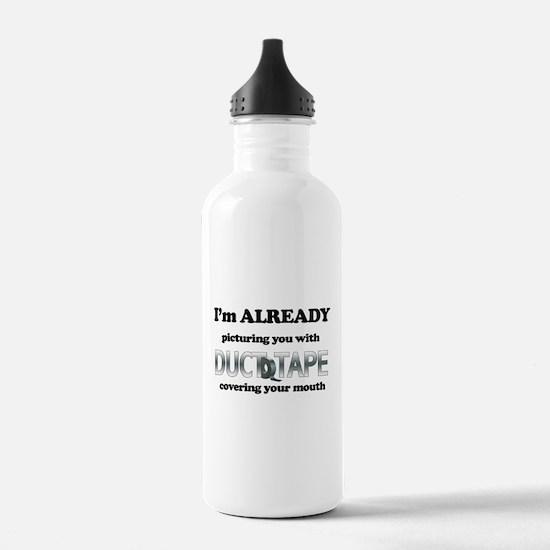 Duct Tape Humor Water Bottle