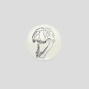 Tyrannosaurus Skull Mini Button