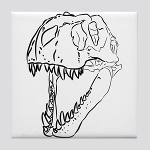 Tyrannosaurus Skull Tile Coaster