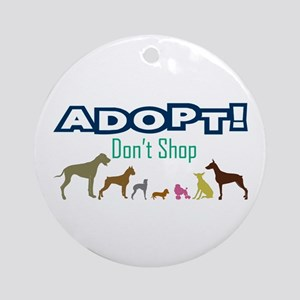 Adopt Don't Shop Ornament (Round)