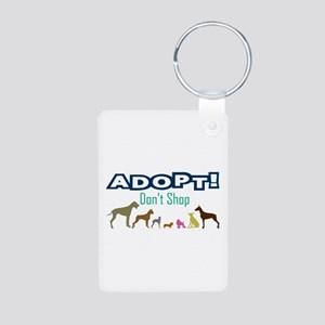Adopt Don't Shop Aluminum Photo Keychain