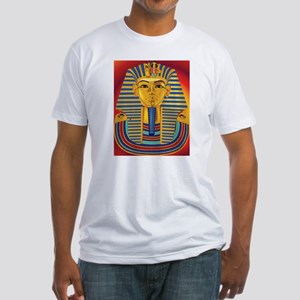 Tut Mask on Red Fitted T-Shirt