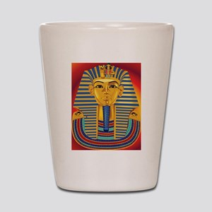 Tut Mask on Red Shot Glass
