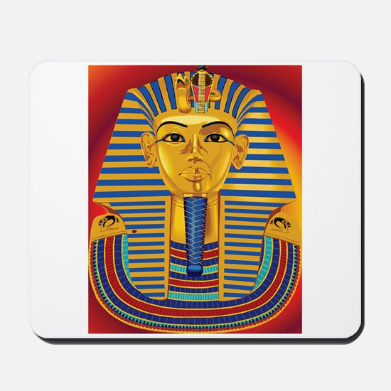 Tut Mask on Red Mousepad
