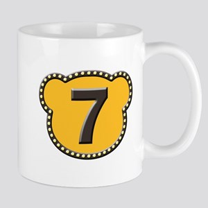Bear Head Number 7 seven Mug