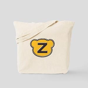 Bear Head Initial Z Tote Bag
