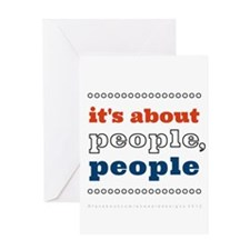 it's about people, people Greeting Card