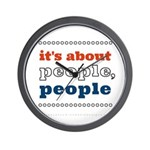 it's about people, people Wall Clock