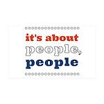 it's about people, people 38.5 x 24.5 Wall Peel