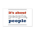 it's about people, people 22x14 Wall Peel