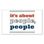 it's about people, people Sticker (Rectangle 10 pk