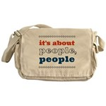 it's about people, people Messenger Bag
