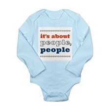 it's about people, people Long Sleeve Infant Bodys