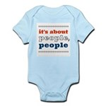 it's about people, people Infant Bodysuit