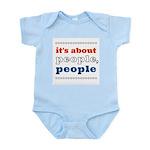 it's about people, people Infant Bodysuit