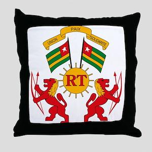 Togo Coat of Arms Throw Pillow