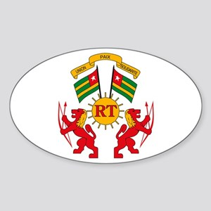 Togo Coat of Arms Oval Sticker