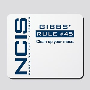 NCIS Gibbs' Rule #45 Mousepad