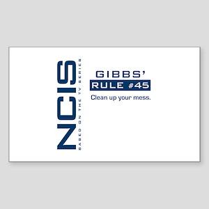 NCIS Gibbs' Rule #45 Sticker (Rectangle)