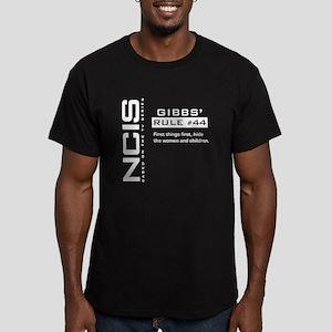 NCIS Gibbs' Rule #44 Men's Fitted T-Shirt (dark)
