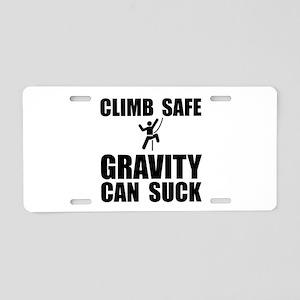 Climb Safe Aluminum License Plate