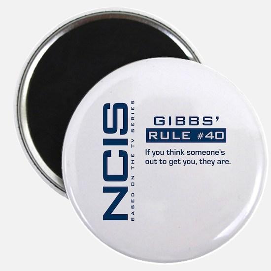 "NCIS Gibbs' Rule #40 2.25"" Magnet (10 pack)"