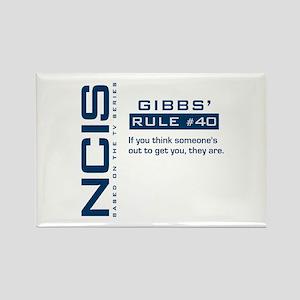 NCIS Gibbs' Rule #40 Rectangle Magnet