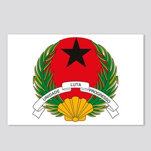 Guinea Bissau Coat of Arms Postcards (Package of 8