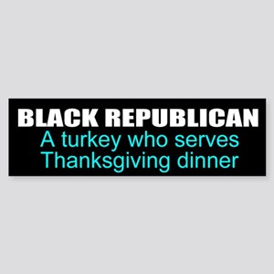 Black Republican Sticker (Bumper)