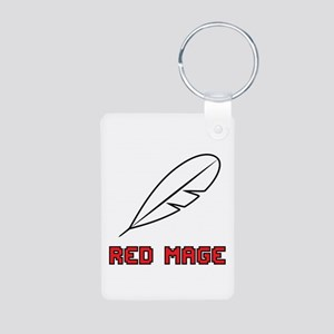 Red Mage Aluminum Photo Keychain