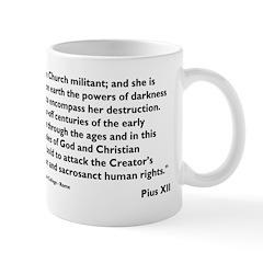 Church Militant - Pius XII (1 Mug