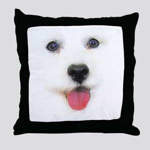 Bichon face Throw Pillow