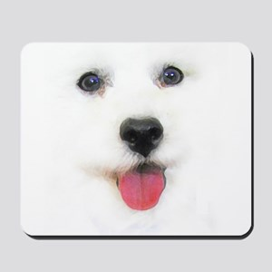 Bichon face Mousepad