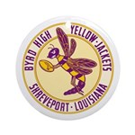 Byrd High Yellow Jackets Ornament (Round)