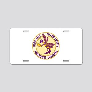 Byrd High Yellow Jackets Aluminum License Plate