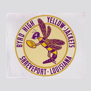 Byrd High Yellow Jackets Throw Blanket