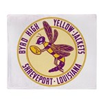 Byrd High Yellow Jackets Throw Blanket